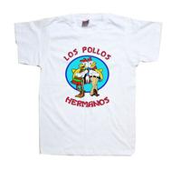 Los Pollos Hermanos Distressed Walter White Crystal Meth AMC TV show Breaking Bad T Shirt
