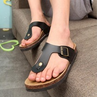 2014 summer Men cork flip-flops, sandals, flip flops slippers British leisure fashion