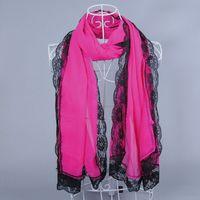 LACE NICE ladies printe PURE COLOR shawls long head muslim chiffon velvet silk wrap popular summer scarves/scarf 10pcs/lot