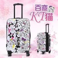 "20""hello kitty  traveller case Children Kid ABS+PC trolley suitcase luggage Pull Rod trunk case Women Girl fashion cute Cartoon"