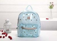 Free shipping The new South Korean MC summer fluorescent lace crystal clear jelly candy bags student backpack