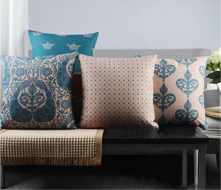 4pcs/lot Bohemian style Pillow Cushions,Sofa Cushion Covers ,Throw Pillow, Cotton Linen Pillows Decorate,Zig Zag Pillow Cover(China (Mainland))