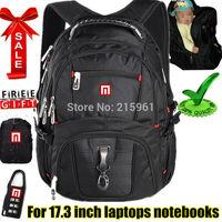 Men Swisslander Laptop backpack Computer backpack Laptop bag,college backpack notebook bags,for macbook for notebook 15.6 inch