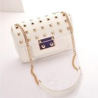 HOT sale fashion punk retro rivet chain PU leather women handbag/leather bag/shoulder bag WLHB794