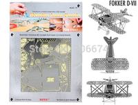 DIY model building Metallic Nano Puzzle DIY 3D Fokker DV11 Biplane Laser Cut Models+free shipping
