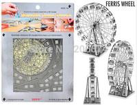 DIY model building Metallic Nano Puzzle DIY 3D Ferris Wheel Laser Cut Models free shipping+free shipping