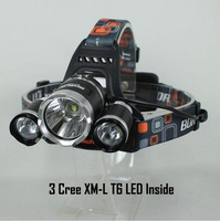 2013 NEW LED Head Torch 3x CREE XM-L T6 5000 Lumens Rechargeable Headlamp Headlight Outdoor Riding Lamps+Charger