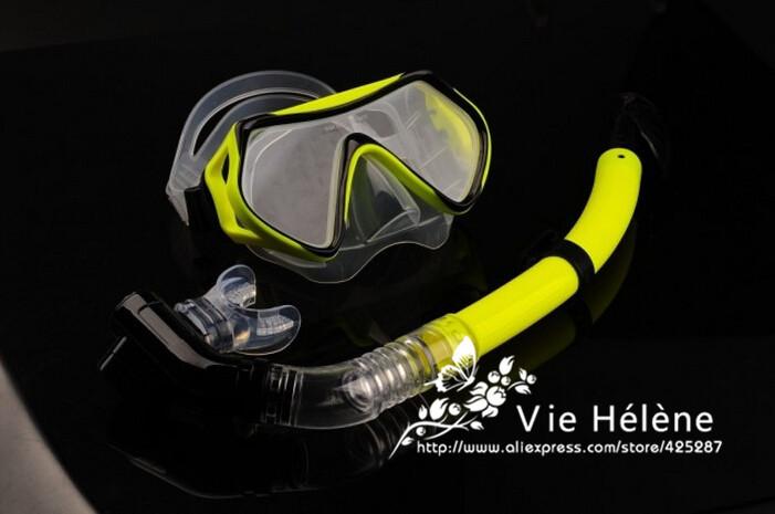 Scuba diving equipment dive mask dry snorkel set scuba snorkeling gear