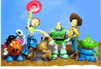 free shipping New 6pcs/ set  TOY STORY 3 BUZZ LIGHTYEAR WOODY Figures Classic toys