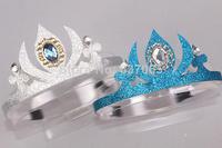 Frozen Crown Princess Elsa Cosplay Crown Sliver & Blue Color Heart Fashion Jewelry Frozen Elsa Crown