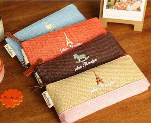 20 pcs/Lot Vintage Cotton Linen Pencil bag Kawaii Pens & Pencils case Mini Storage bag organizer Stationery School supplies 6313(China (Mainland))