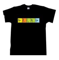 Bazinga Coloured Elements Science Chemistry  Theory Sheldon Women Men T shirt
