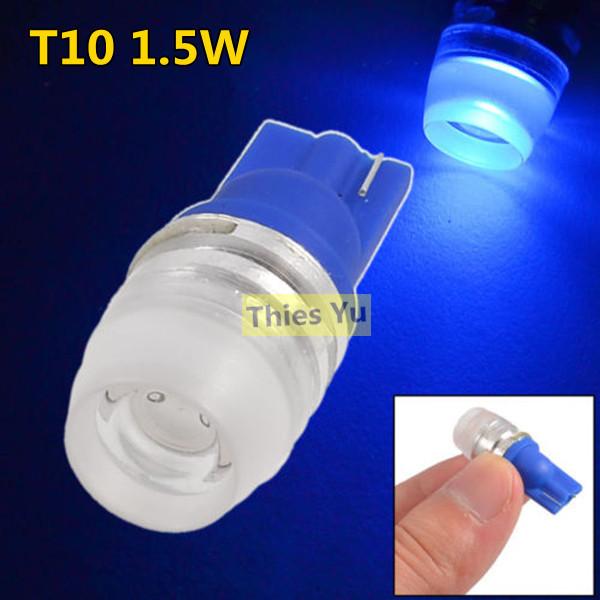 T10 168 194 W5W LED Wedge Light 1.5 Watt Power Lens Cap Side Dashboard Bulb Clearance Lights 10pcs(China (Mainland))