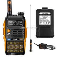 ham radio Pofung GT-3 Mark II, radio vhf uhf Dual Band V/U 136-174/400-520MHz radio transmitter +extra Pofung battery