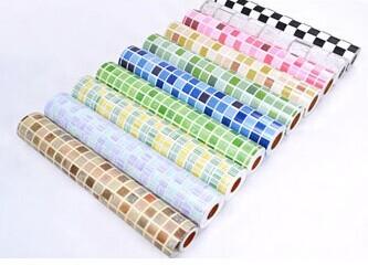 pvc etiqueta da parede, mosaico auto- adesivo papel de parede para cozinha e banheiro, telha cerâmica do mosaico adesivos, mosaico de vidro imitação(China (Mainland))