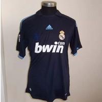 Top AAA+quality 09/10 Real Madrid &  Real Madrid 09-10& #7 Raul 9# Ronaldo 4#Ramos The original typeface &away  football jersey