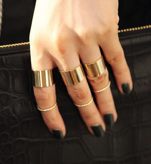 tj015 6 pieces rings set Artilady 18K gold spike midi ring set fashion stacking ring cross women jewelry(China (Mainland))