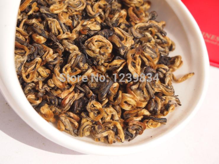 250g AAAA curly jinjunmei Dian Hong JinJunmei Yunnan Black Tea Free Shipping