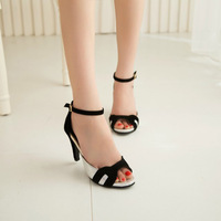 2014 summer sexy high-heeled shoes thin heels open toe strap female sandals