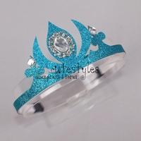 Retailer 2014 Frozen Elsa Crown Custom Made Movie Cosplay Girl Princess Crowns Headwear for Children GD40624-1