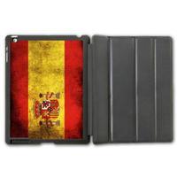 For iPad 2 3 4/iPad 5 Air/iPad Mini  Retro Spain Flag Protective Smart Cover Leather Case , Tablet Fashion Pattern Design Cover