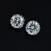 Wholesale Clear Zircon  CZ stones Stud Earring (Yashow E0914W) FREE SHIPPING