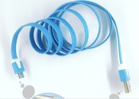 O318 High speed Colorful Noodles Data Cable Flat Data Cables Charger lines for Android for samsung for sony free shipping