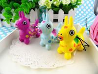 cute rare kawaii 7cm small horse squishy squishies bun phone bag charm 21pcs/lot free shipping