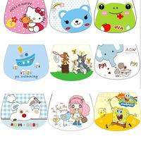 Free Shipping 2014 Hot Sale (21 Colors) 10pc/Lot 100%Cotton Baby Absorbent Towels Bib Cartoon Baby Bib Infant Saliva Towels