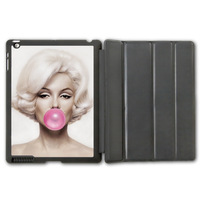 For iPad 2 3 4/iPad 5 Air/iPad Mini Marilyn Monroe Bubble Gum Protective Smart Hard Cover Leather Case  (Free Shipping)