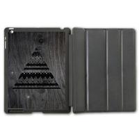 For iPad 2 3 4/iPad 5 Air/iPad Mini  Nebula Aztec Triangle Smart Cover Leather Case  (Printed Wood) P94