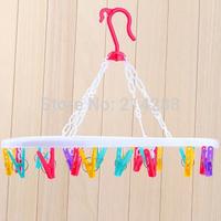 Plastic clothespin underwear socks drying rack drying rack