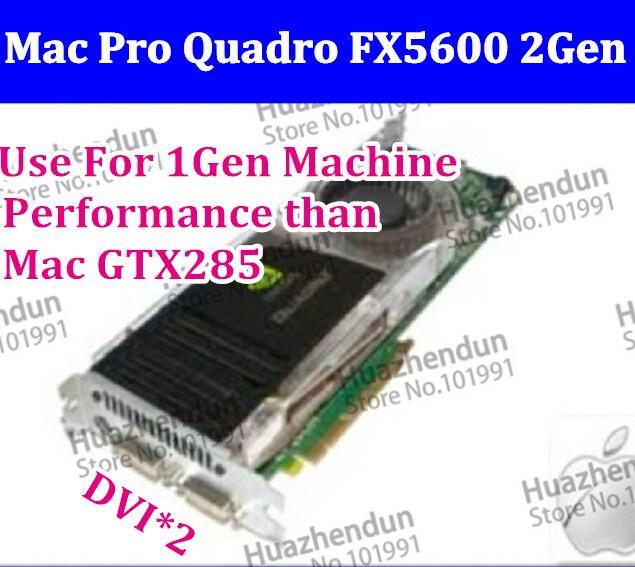 High Original Mac Pro Nvidia FX5600 1.5GB Video Graphic Card 2Gen 2008/2010 Support CUDA Photo editors more than Mac GTX285(China (Mainland))