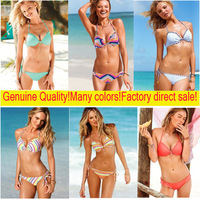 2014 Newest! Super push up add-2-cup Brand bikinis set  swimwear strips style 6sets/L Mixed wholesale DHL delivery