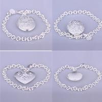 A31 // Big promotion popular Factory Price hot sale Bracelets Chain, wholesale fashion 925 jewelry silver plated Bangle Bracelet