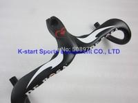 Wholesale! De rosa  road bike   carbon handlebar stem caliber 28.6mm , 400/420/400mm black and white and red