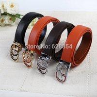 Stock!! Factory direct sales, wholesale leather leather belt, fine metal buttons, high quality.MOQ: 1 pcs / color