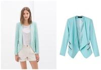 The new autumn and winter 2014 Slim leisure suit jacket zipper decoration female suit
