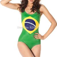 Lot 10 Sexy Women's Swimwear Digital Printing One-Piece Backless Swimsuit woman Beachwear Dress Brazilian flag