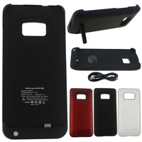 4200mAh External Rechargeable Backup Battery Charger Case Stand For HTC ONE M7