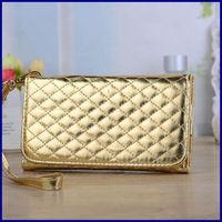 Luxury Universal glitter handbag Wallet Leather Case for Samsung Galaxy Grand Duos I9082 grand 2 g7102 wrist strip phone bag (L)