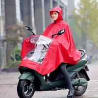Raincoat electric bicycle motorcycle raincoat single transparent fashion large brim hat poncho plus size thickening