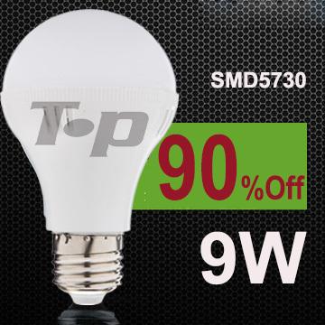 NEW design LED lamps Free shipping 6 pcs/lot 9W E27 Energy Saving LED Bulb light lighting 220V 230V warm white/white D9(China (Mainland))