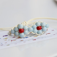 Ceramic Beads Bracelets Braided Rope For Fresh Girls New 2014 Fashion Vintage Jewelry Accessories Wholesale For Lovers Couples