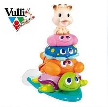 Original Vulli Sohpie a girafa infantil Bath Toy Animal Surf Design O bebê / crianças chuveiro de água Toy Frete Grátis(China (Mainland))