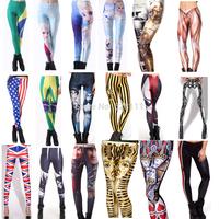 Free Shipping Fitness Leggings Printed Women Comic Frozen Collection Digital Printing Money Leggings Fashion Girls Pants