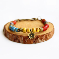 Bohemia Ceramic Bracelets Colorful Summer For Girls New 2014 Fashion Vintage Jewelry Accessories Wholesale For Lovers Couples