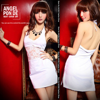 Summer 2014 new women sexy club lace backless nightclub Slim package hip dress child