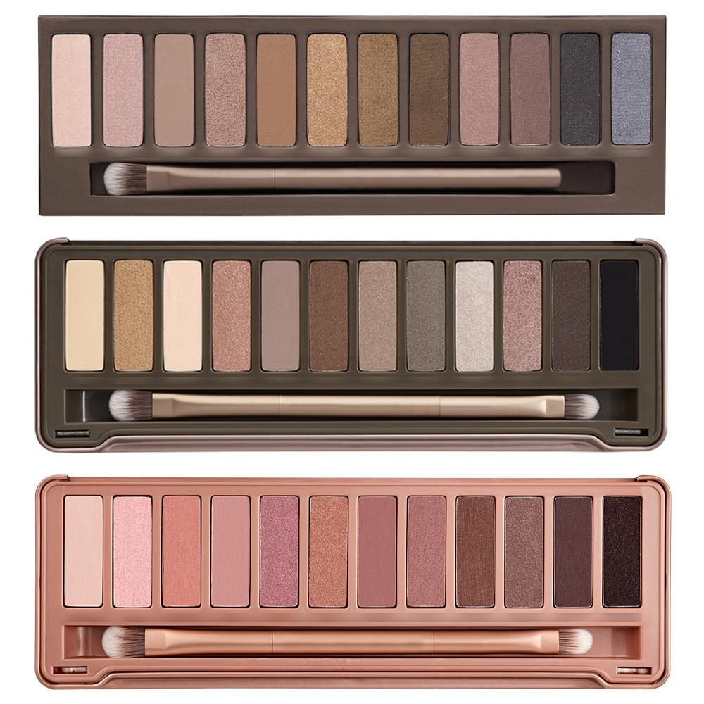 Ingrosso 3pcs/lot 2014 nuovo nake trucco set 12 colori della palette nk 1 2 3 eye shadow palette con pennello, caduta libera Shipp