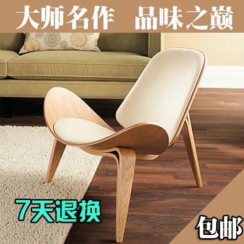 couro moda criativa cadeira de madeira curvada bordo de aeronaves quarto de solteiro móveis, cadeiras poltrona de couro(China (Mainland))